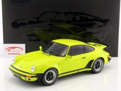 Porsche 911 (930) Turbo year 1977 acid green 1:12 Minichamps