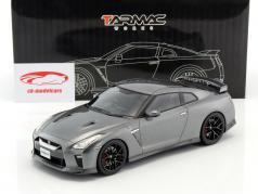 Nissan GT-R ano de construção 2017 cinza metálico 1:18 Tarmac Works