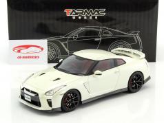 Nissan GT-R ano de construção 2017 brilhante branco 1:18 Tarmac Works