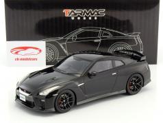 Nissan GT-R ano de construção 2017 preto 1:18 Tarmac Works
