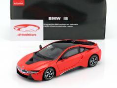 BMW i8 year 2015 red / black 1:24 Rastar