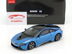 BMW i8 year 2015 blue metallic 1:24 Rastar