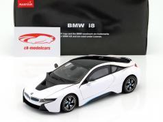 BMW i8 year 2015 white / black 1:24 Rastar