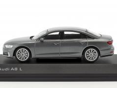 Audi A8 L monsun グレー 1:43 iScale