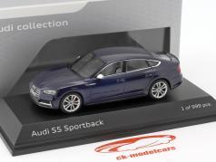 Audi S5 Sportback año de construcción 2016 Navarra azul 1:43 Paragon Models