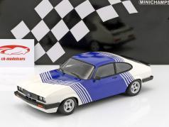 Ford Capri 3.0 ano de construção 1978 branco / azul 1:18 Minichamps