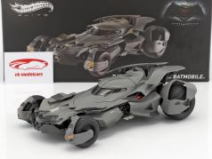 Batmobile film Batman V Superman: Dawn Of Justice 2016 noir 1:18 HotWheels Elite