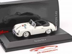 Porsche 356A cabriolé polícia branco 1:43 Schuco
