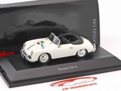 Porsche 356A cabriolé policía blanco 1:43 Schuco