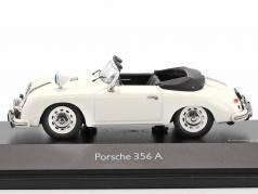 Porsche 356A 敞篷车 警察 白 1:43 Schuco