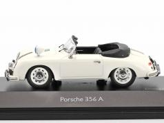 Porsche 356A Cabriolet Police white 1:43 Schuco
