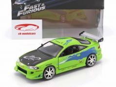 Brian's Mitsubishi Eclipse The Fast and the Furious 2001 green 1:24 Jada Toys