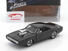 Dodge Charger R/T Ano 1970 Fast and Furious 7 2015 preto 1:24 Jada Toys