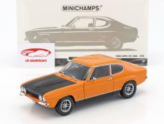 Ford Capri RS 2600 ano de construção 1970 laranja / preto 1:18 Minichamps