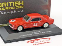 Ford Mustang #42 BTCC campeão 1965 Roy Pierpoint 1:43 Atlas