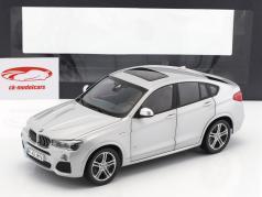 BMW X4 XDRIVE (F26) ano de construção 2014 prata 1:18 Paragon Models