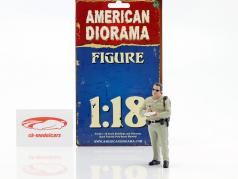 Police Series Highway Patrol Figur I Writing Ticket 1:18 American Diorama