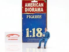 mecânico Johnny Drinking Coffee 1:18 American Diorama
