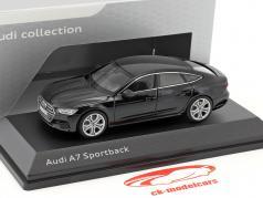 Audi A7 Sportback mythosschwarz 1:43 iScale