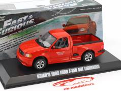 Brian's Ford F-150 SVT Lightning year 1999 Fast and Furious 2001 red 1:43 Greenlight