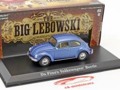 Da Fino's Volkswagen VW Beetle film The Big Lebowski 1998 blå metallisk 1:43 Greenlight