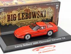 Larry Sellers' Chevrolet Corvette C4 year 1985 Movie The Big Lebowski (1998) red 1:43 Greenlight