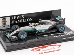 Lewis Hamilton Mercedes F1 W07 Hybrid #44 gagnant Brésil GP formule 1 2016 1:43 Minichamps