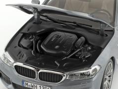 BMW 5 Series (G30) sedan ano de construção 2017 bluestone metálico 1:18 Kyosho