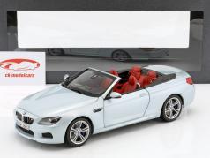 BMW M6 Cabrio Silverstone II zilveren 1:18 Paragon Models