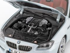 BMW M6 Cabriolet Silverstone II sølv 1:18 Paragon Modeller