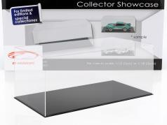 haut qualité vitrine pour 1 Modelcar en échelle 1:12 ou 2 modelcars en échelle 1:18 noir SAFE