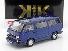 Volkswagen VW Bulli T3 Multivan Last Edition 1992 blau metallic 1:18 KK-Scale