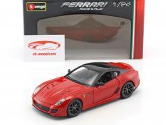 Ferrari 599 GTO rot / schwarz 1:24 Bburago