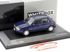 Ford Fiesta ano de construção 1996 azul metálico 1:43 WhiteBox