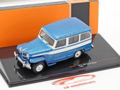 Willys Jeep Station Wagon año de construcción 1960 azul / blanco 1:43 Ixo