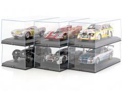 6er Karton Exclusiv Cars Vitrinen für Modellautos 1:18