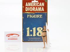 surfista Casey figura 1:18 American Diorama
