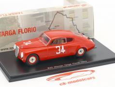 Lancia B20 #34 Vinder Targa Florio 1952 Bonetto 1:43 Spark