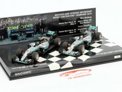 2-Car Set Mercedes AMG Petronas F1 Team コンストラクタ 世界 チャンピオン F1 2016 1:43 Minichamps