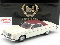 Mercury Marquis 2-Türer Hardtop Coupe Baujahr 1976 weiß / dunkelrot 1:18 BoS-Models