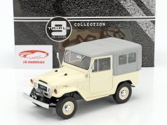 Toyota Land Cruiser FJ40 ano de construção 1967 bege / cinza 1:18 Triple9