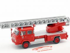 Saviem S7 brandweer met ladder rood 1:43 Atlas