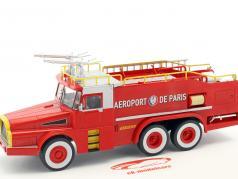 Willeme W8 6x6 Aeroport de Paris pompiers rouge / blanc / jaune 1:43 Atlas