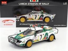 Lancia Stratos HF Rally #7 tercero Safari Rallye 1977 Munari, Sodano 1:18 SunStar