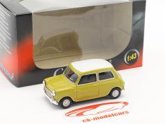 Mini Cooper année de construction 1969 moutarde jaune / blanc 1:43 Cararama