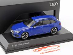 Audi RS 4 Avant Bouwjaar 2017 nogaro blauw 1:43 Spark