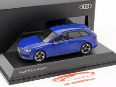 Audi RS 4 Avant Opførselsår 2017 nogaro blå 1:43 Spark