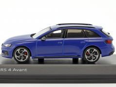 Audi RS 4 Avant año de construcción 2017 nogaro azul 1:43 Spark