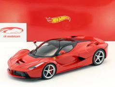 Ferrari LaFerrari Ano 2013 vermelho 1:18 HotWheels Foundation