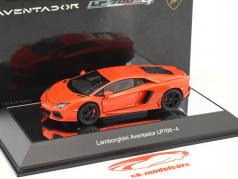 Lamborghini Aventador LP 700-4 2011 orange metallic 1:43 AUTOart